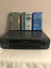 Sharp Vc-A343U Vhs Vcr Player Recorder + 3 Blank Tapes /No Av Cables, No Remote