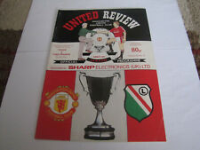 1991 Manchester United vs Legia Warsaw European Cup Winners Football Programme