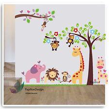 Giraffe Tree Flower Elephant Animal Nursery baby Removable Wall Sticker Decal