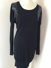 Gorgeous M&S Knitted Sequin Embellished Party Jumper Dress 50s Size 8