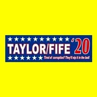 """TAYLOR/FIFE '20"" The Andy Griffith Show STICKER Taylor, Barney Fife, Don Knotts"