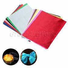 15pcs 20*25cm Satin Fabric Bundle Patchwork Sewing Quilting Tissue Cloth Bowknot