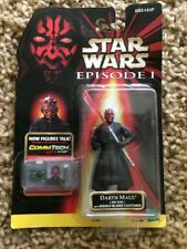 Star Wars Darth Maul Figure EP 1 Collection 1CommTech 1ST ED. Jedi Duel 1998