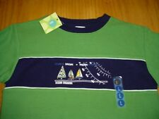 New Wt Green Long Sleeved Shirt Boys Age 5 Gymboree Nautical Sailing Cotton