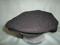 CHARCOAL GREY DEEP FIT WOOL BLEND VICTORIAN EDWARDIAN PEAKY BLINDERS FLAT CAP