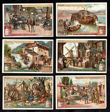Watermills & Windmills Cards Set 1922 Liebig Moulin Egypt Holland Flour Farming