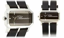 NEW Blumarine BM.3150L-04 Women' Dual Black Leather Strap Sleek Unique Fun Watch