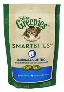 FELINE GREENIES SMARTBITES Hairball Control Treats for Cats Tuna Flavor 2.1oz