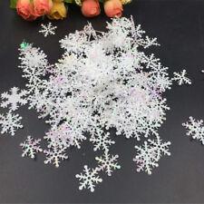 300 Stücke DIY Schneeflocke Ornamente Weihnachten Urlaub Party Wohnkultur  ^