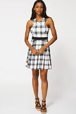 Polyester V-Neck Checked Casual Dresses for Women