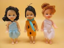 Tommy Kelly Dolls Flintstones Fred Betty Wilma Perfect Hair Clean Excellent Lot