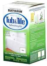 Bathtub Title Tub Tile Refinish Paint Kit Rust oleum White Enamil Repair SinkT .