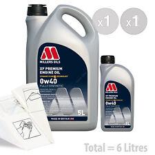 Car Engine Oil Service Kit / Pack 6 LITRES Millers Oils XF Premium 0W-40 6L