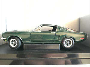 2002 Ertl 1/18 Scale Diecast -  Bullitt 1968 Ford Mustang Fastback Steve McQueen