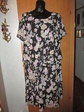 J.B.S. Ltd. Woman Black multicolored floral pattern, calf length dress, size 24W