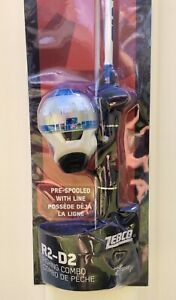 """ZEBCO DISNEY STAR WARS R2-D2 SPINCAST FISHING COMBO 5'6"""" 2 Piece w Tackle NEW"""