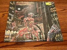 IRON MAIDEN SOMEWHERE IN TIME  ORIGINAL  FIRST PRESSING LP STILL FACTORY SEALED