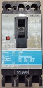 Siemens ITE Sentron Series Circuit Breaker ED63B060 Type ED6, 3 Pole, 60A, 240VA