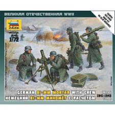 Zvezda Plastic Model Kit - 1/72 Scale - German 81mm Mortar & Crew - 6209