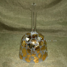 """Gold Clover crystal singing bowl with handle Note D# 4th octave 6.5"""""""