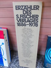 Erzähler des S. Fischer Verlages 1886 – 1978
