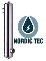 Intercambiador de calor, NORDIC TEC, Acero inox, para PISCINA SPA - 16-700kW