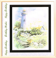 'Lighthouse' Greeting Card (Handcrafted Design with Free Options)