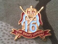 16th 5th Queens Royal Lancers Lapel Military Badge