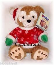 New Disney Parks Santa Mickey Christmas Holiday Plush Duffy Bear Retired