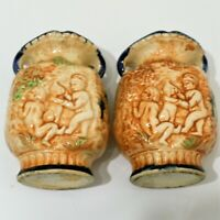 Vintage Porcelain Ceramic Vases Made in Japan Set of 2 Matching