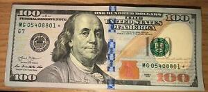 100 DOLLAR STAR BANKNOTE MG05408801* - MG0540900*