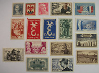 France lot of 17 MNH MH stamps Lot D