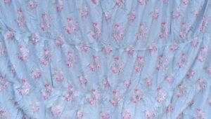 Rachel Ashwell Simply Shabby Chic Pink Blue CABBAGE ROSE Ruched Twin Duvet