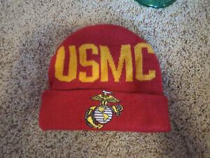 U.S. MARINE CORPS USMC MARINES logo BEANIE CAP SKI KNIT WARM HAT