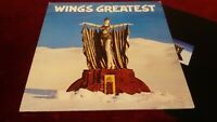 WINGS - WINGS GREATEST - ORIGINAL UK LP WITH INNER