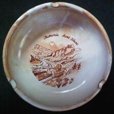 Vintage Ceramic Ashtray - Chamonix Mont Blanc - NICE!