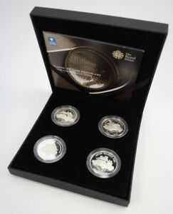 2009 Classic British Motorcars Silver (.925) Proof Four-Coin Collection