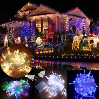 Xmas LED String Lights Waterproof 10M Waterproof 110V 100 LED Connectable New