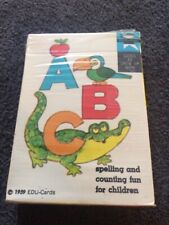 1959 ABC spelling counting Edu-card Educational Card Game exc cellophane