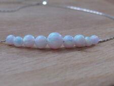 Opal necklace, opal ball necklace, opal silver necklace, opal jewelry, tiny dot