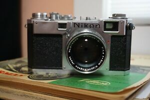 Nikon Rangefinder S2 Serial No. 6167631 Around 1956 Good Condition