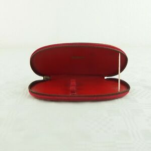 Pelikan Leder Etui für 3 Schreibgeräte rot