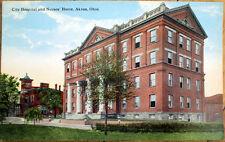 1915 Akron, OH Postcard: City Hospital and Nurses Home - Ohio