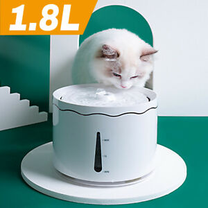1.8L Pet Water Fountain for Cats and Dogs Automatic Drinking Dispenser w/Filter