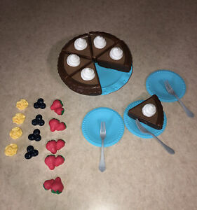 Just Like Home Cake Designer Chocolate Cake Slices, Cake Stand, Toppings, Plates