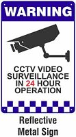 Warning CCTV Security Surveillance Camera REFLECTIVE METAL Safety Sign 300x400mm