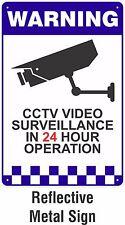 Warning CCTV Security Surveillance Camera REFLECTIVE METAL Safety Sign 200x300mm