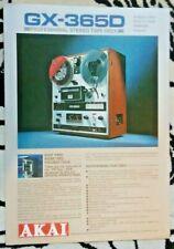vtg AKAI GX-365D sales brochure - C2 - professional stereo tape deck