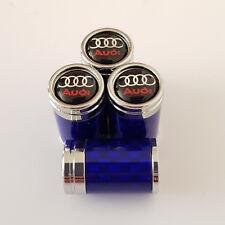 AUDI Royale Azul De Fibra De Carbono Vástago De La Válvula Del Neumático Polvo Tapas De Aleación todos los modelos RS Q7