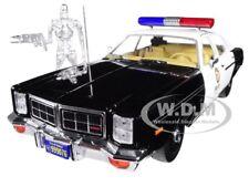 1977 DODGE MONACO POLICE W/ T-800 FIGURE THE TERMINATOR 1/18 BY GREENLIGHT 19042